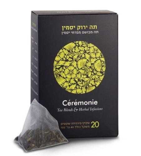 חליטת תה ירוק יסמין 20 יח'