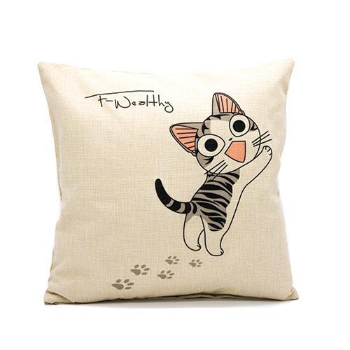 כרית נוי 2 happy cat