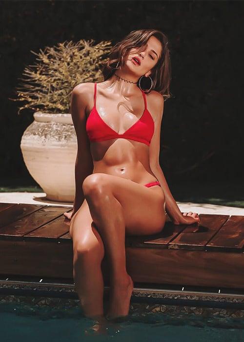 בגד ים ברזילאי אדום - טופ איקס / תחתון מתכוונן