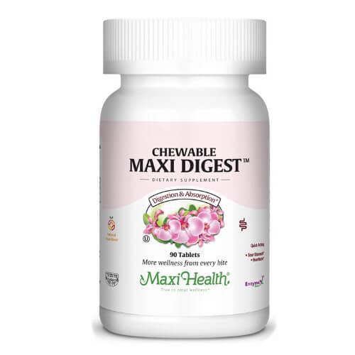 -- Digest לעיכול וספיגה -- Maxi Health, מכיל 90 טבליות ללעיסה