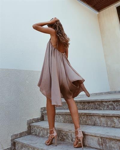 שמלת לני - מוקה