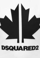 DSQ2 טישרט לבנה לוגו שחור מידות 4-16