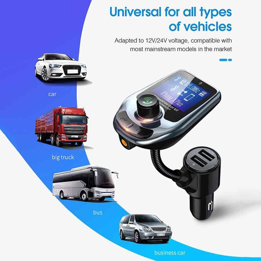 משדר fm מקצועי לרכב דגם D4 של חברת onever עם דיבורית+ושמיעת מוזיקה+הטענת ניידים+בלוטוס