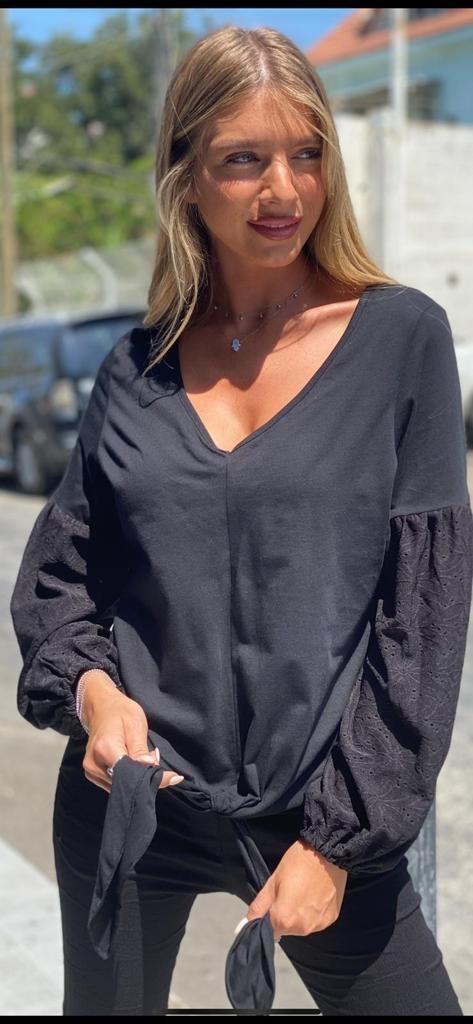 חולצת פריז שחורה THOMAS
