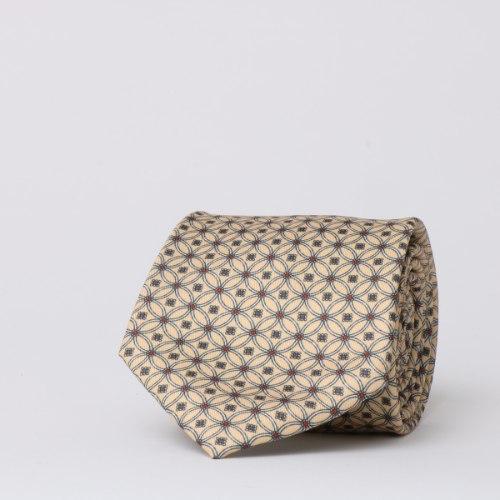 עניבה מודפסת בגוון אפרסק