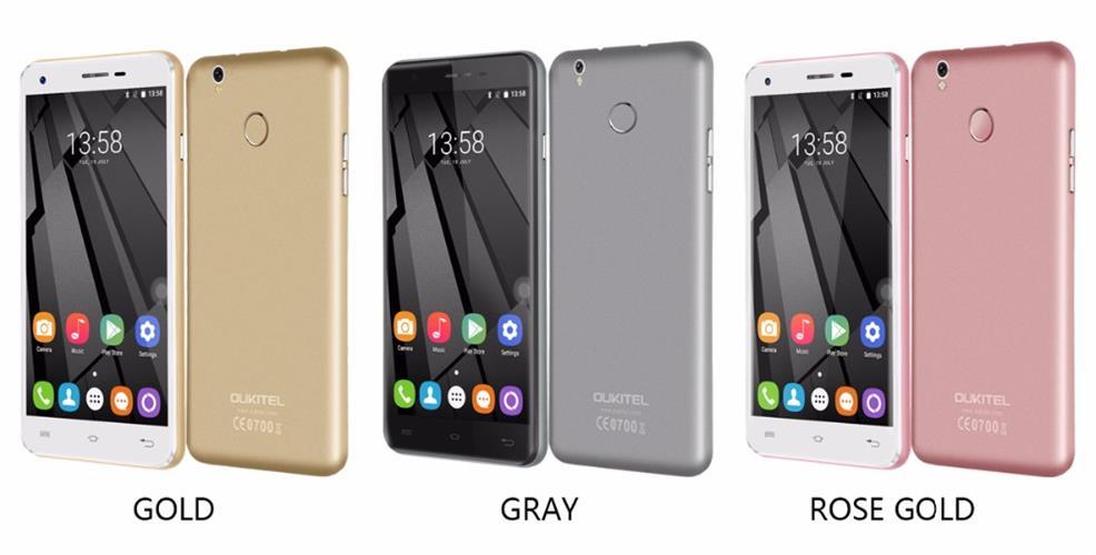 מכשיר סמארטפון OUKITEL U7 PLUS מעבד 4 ליבות מסך 5.5 תומך בדור 4G