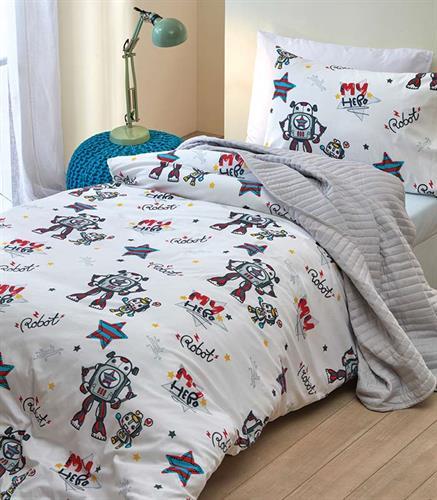 סט מלא מיטה וחצי דגם רובוט