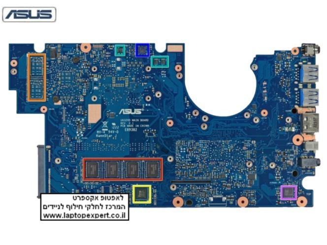 לוח למחשב נייד אסוס זן בוק ASUS UX32A UX32A-R3001H-R i3-2367U Motherboard include I3 Cpu - 60-NYOMB1401-B02