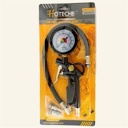 צינור ניפוח פנאומטי  עם שעון לחץ אוויר מבית חברת HOTECHE