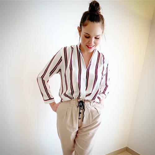 חולצת טיילור כפתורים - גוון לבן