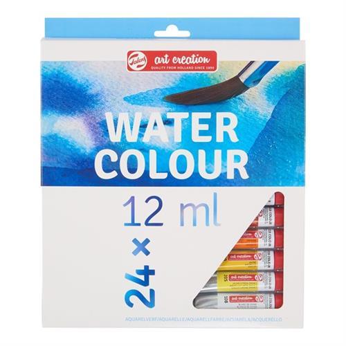 סט צבעי מים בשפורפרות 12 מל' - 24 גוונים TALENS