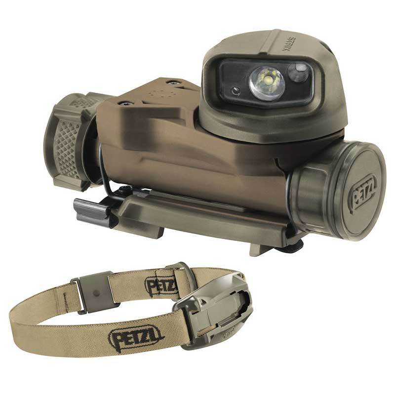 פנס לקסדה טקטית מדגם פצל סטריקס חום/ירוק PETZL STRIX VL E90AHB