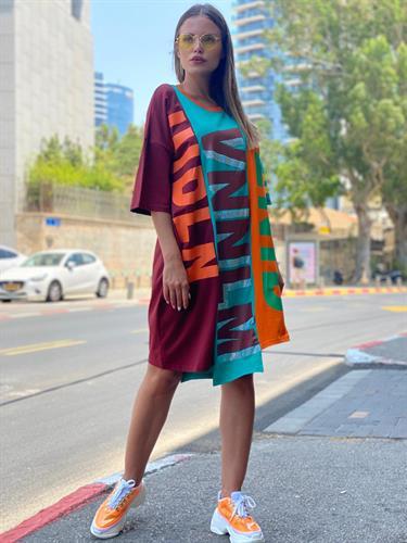 שמלה שילוב ניטים