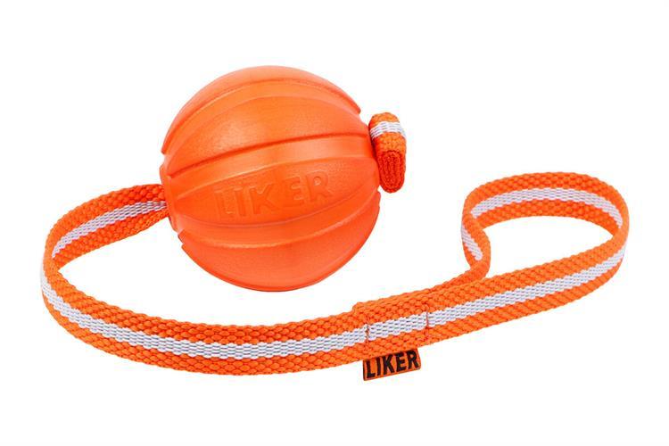 LIKER 7 כדור עם רצועה לכלבים מגזעים בינוניים