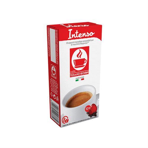 10 קפסולות קפה בוניני Intenso תואם נספרסו - חוזק 8
