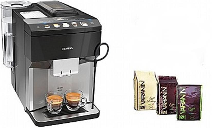"""מכונת קפה EQ500 classic Siemens סימנס TP507R04 קבל 3 ק""""ג קפה איטלקי משובח."""