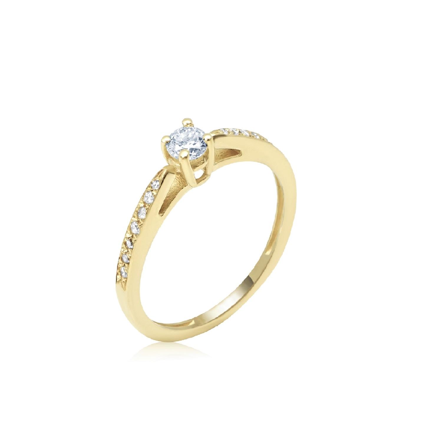 טבעת יהלומים מעוצבת קלאסית 0.30 קראט