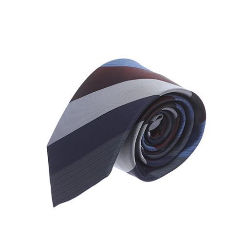 עניבה פסים רחבים כחול
