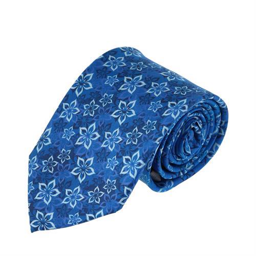 עניבה עלי כותרת כחול