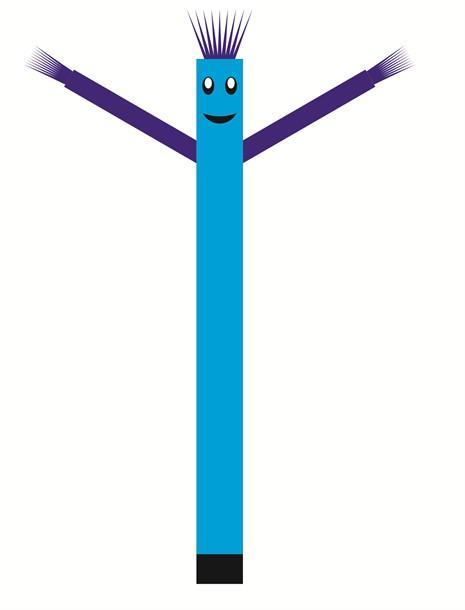 בובת דנסר רוקדת בגובה 6 מטר - צבע תכלת ידיים כחול
