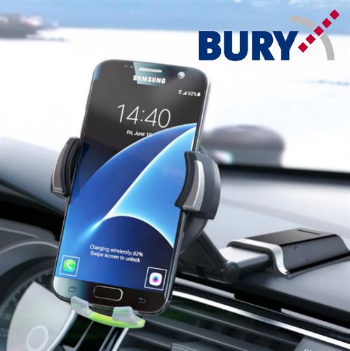 מתקן טלפון לרכב עם מטען אלחוטי Bury Powerkit Qi Powermount