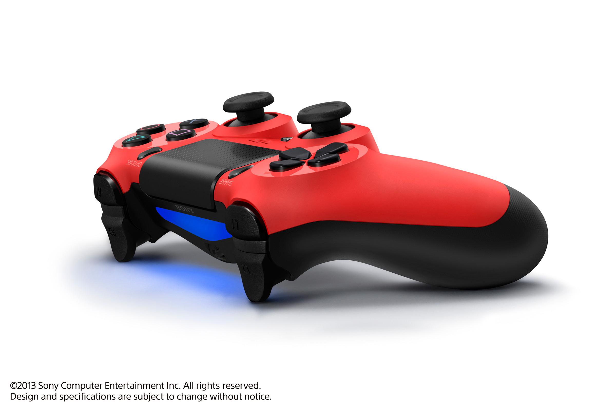 SONY PS4 DUALSHOCK 4 CONTROLLER בצבע אדום