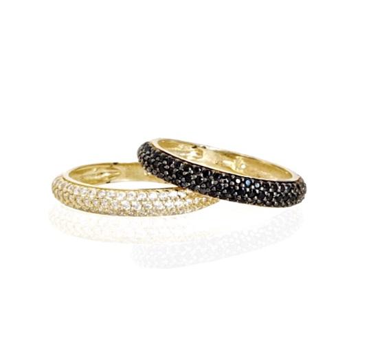 טבעת איטרניטי  זרקונים  בזהב 14 קרט|טבעת זהב משלימה