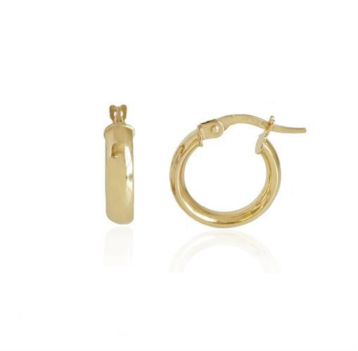 עגילי חישוק קטנים 1.4 סמ צהוב או לבן