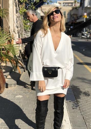 שמלת סטייסי לבן