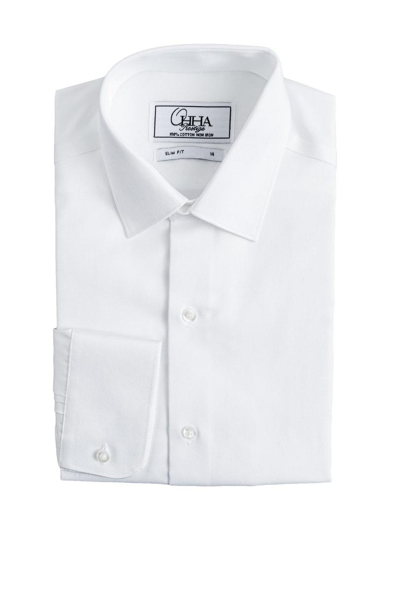 חולצה אוהה טיקט לבן סאטן SLIM FIT
