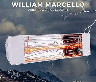תנור חימום יוקרתי לאמבטיה/חדר/חוץ Willam Marcello דגם 1000W