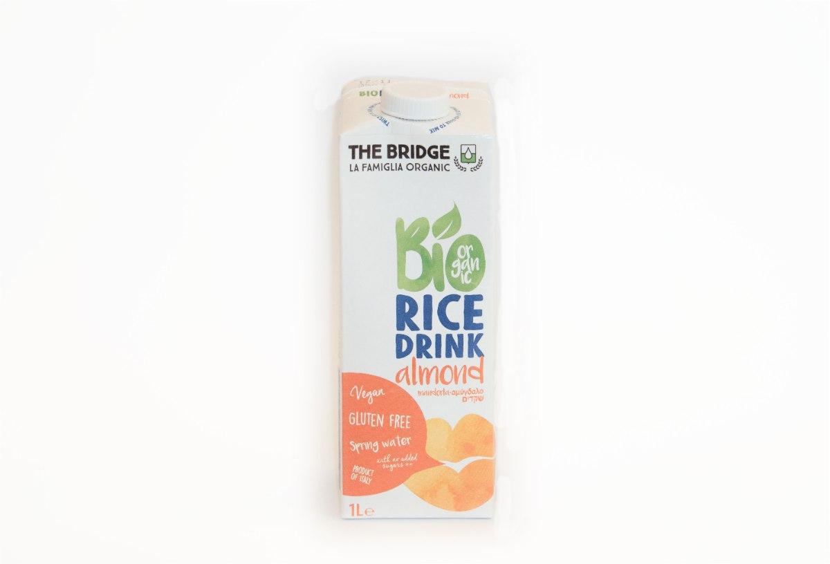 חלב אורז שקדים אורגני