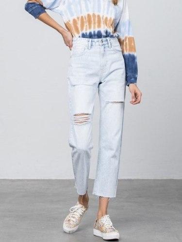 ג'ינס INSANE בהיר קרעים דגם 1097