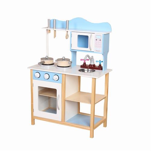 מטבח עץ לילדים דגם PLK504 BUYER  בצבע כחול