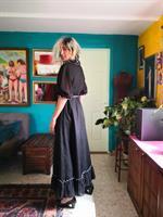שמלת מקסי שחורה יפהפייה מידה XL