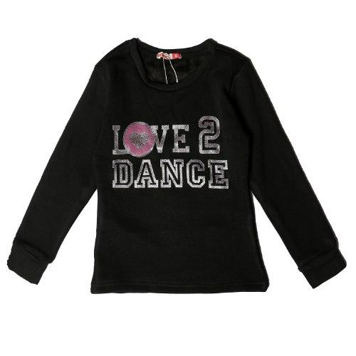 חולצת פוטר עם פרווה LOVE בנות
