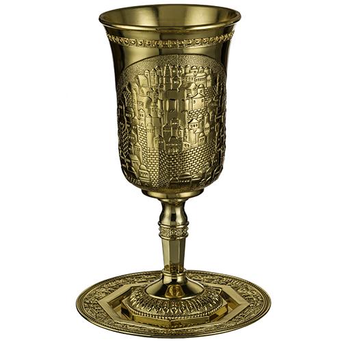 """גביע אליהו גדול זהב ירושלים 25 ס""""מ"""