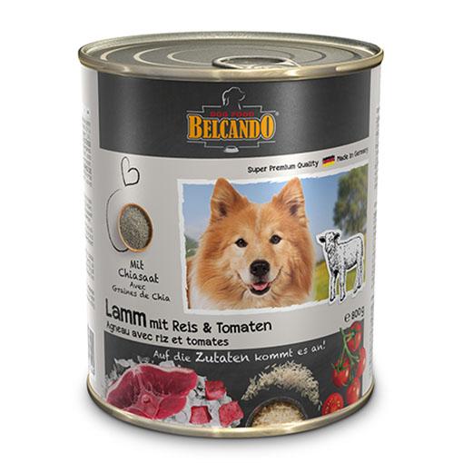 שימורי מזון כלבים בלקנדו – כבש אורז ועגבניה 800 גר'