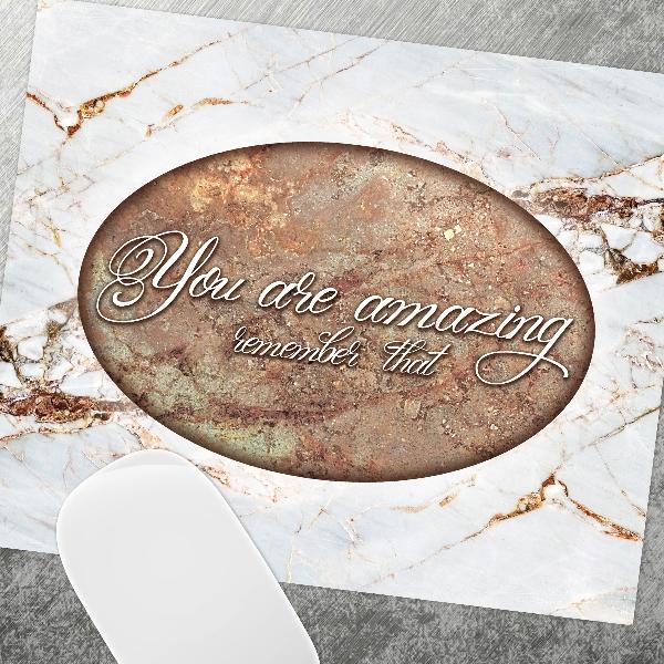 """משטח לעכבר """"You are amazing""""   פד לעכבר   פד לעכבר מעוצב   מתנה למשרד   מתנות מקוריות"""