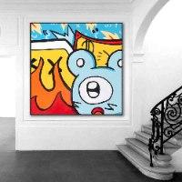 ציור אמנות מודרנית לעיצוב הבית של האמן כפיר תג'ר