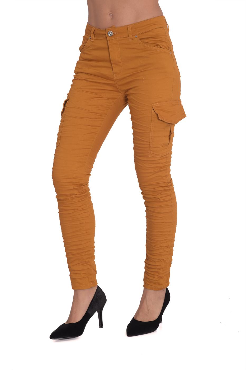 מכנס סולדי חרדל