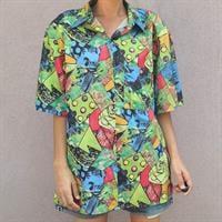 חולצה קצרה צבעונית מידה L/XL