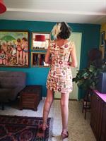 שמלת מיני מדליקה תפירה ביתית מידה L