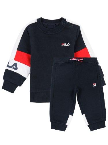 חליפת פוטר כחול/אדום FILA בנים - מידות 6 חודשים עד 8 שנים