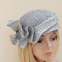כובע מעוצב לנשים / אפור אלגנטי