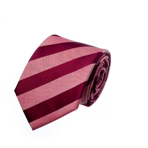 עניבת פסים בורדו