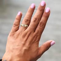 טבעת MOM גולדפליד משובצת
