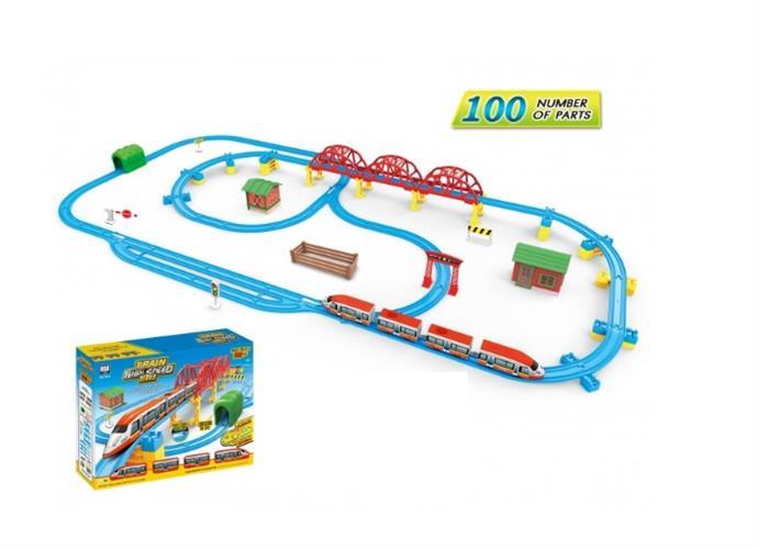רכבת חשמלית ענקית 100 חלקים