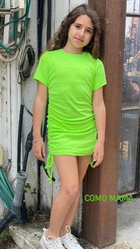 שמלת כיווצים ירוקה - 2-16
