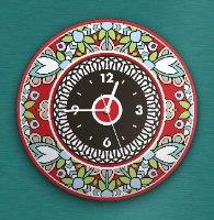 שעון קיר מעוצב, זכוכית אקרילית, דגם 2026  TIVA DESIGN